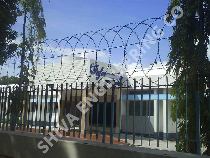 CONSEC® RAZOR FLAT WRAP FENCE OF 800 mm Height