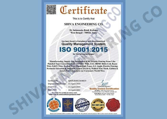 SEC ISO 9001-2015 CERTIFICATE